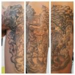 1-carl huggins custom tattoo artist studio evovle