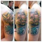 21-carl huggins custom tattoo artist studio evovle