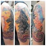 25-carl huggins custom tattoo artist studio evovle