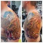 4-carl huggins custom tattoo artist studio evovle