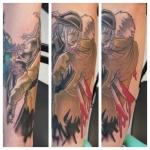 5-carl huggins custom tattoo artist studio evovle