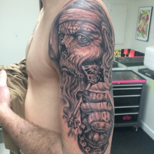 Johnny Renteria Custom Tattoo Artist Virginia Beach. Studio Evolve Tattoo