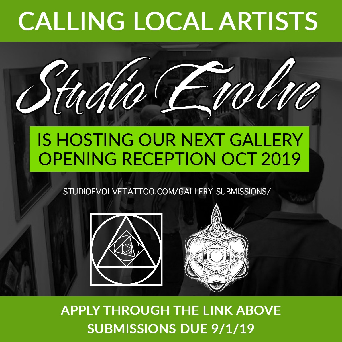 Now Taking Gallery Submissions For Our October Show.