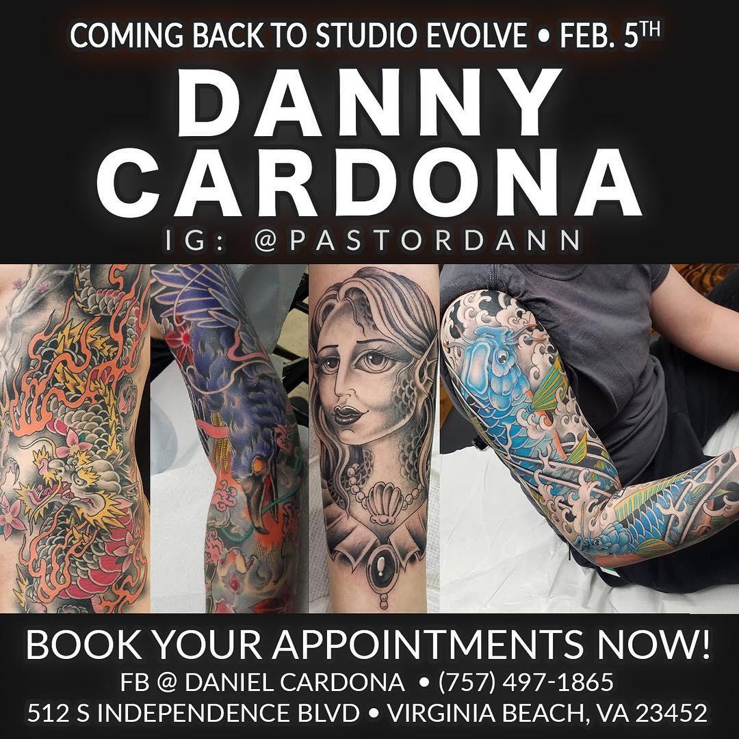 Danny Cardona is back at Studio Evolve