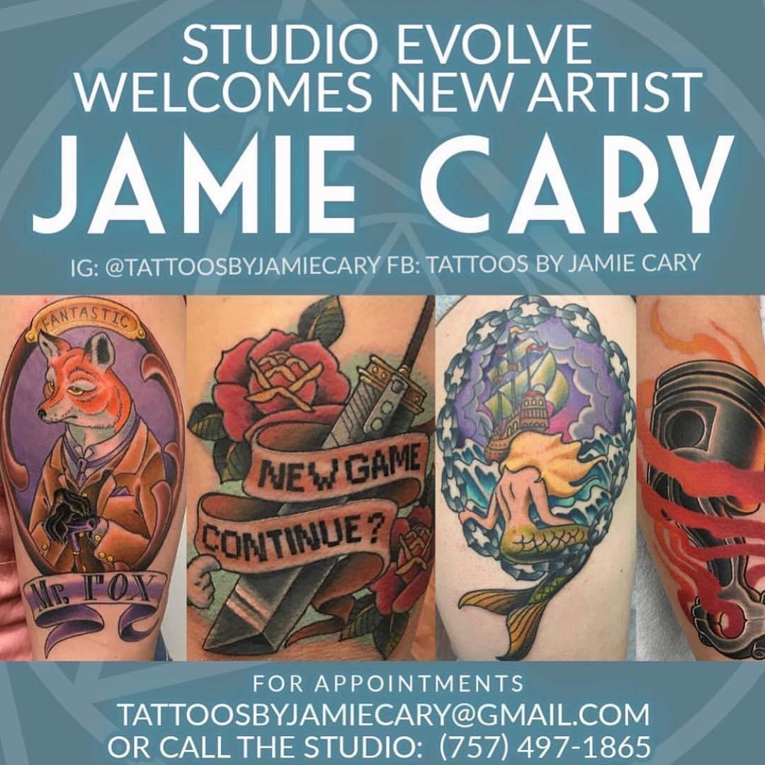 Jamie Cary Now At Studio Evolve