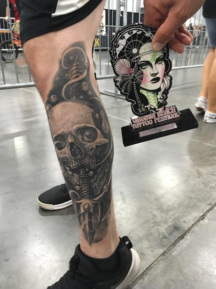 2nd place for best nautical style tattoo